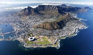 Arial View of Cape Town